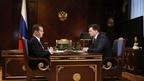 Встреча Дмитрия Медведева с генеральным директором «Почты России» Николаем Подгузовым