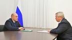 Встреча Михаила Мишустина с губернатором Ростовской области Василием Голубевым