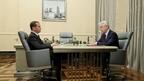 Встреча Дмитрия Медведева с мэром Москвы Сергеем Собяниным