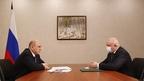 Беседа Михаила Мишустина с губернатором Кемеровской области Сергеем Цивилёвым