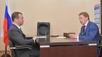 Встреча Дмитрия Медведева с временно исполняющим обязанности губернатора Севастополя Дмитрием Овсянниковым
