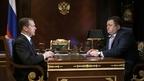 Встреча Дмитрия Медведева с генеральным директором Российского экспортного центра Петром Фрадковым