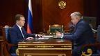 Дмитрий Медведев провёл рабочую встречу с руководителем Федеральной миграционной службы Константином Ромодановским