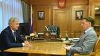 Алексей Гордеев встретился с временно исполняющим обязанности губернатора Воронежской области Александром Гусевым