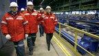 Дмитрий Медведев посетил металлургический комбинат в Новокузнецке