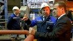 Дмитрий Медведев посетил Челябинский металлургический комбинат