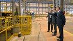 Открытие нового металлургического завода «НЛМК-Калуга»