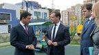 Дмитрий Медведев посетил строящийся детский сад в Домодедове
