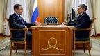 Дмитрий Медведев провёл рабочую встречу с губернатором Тюменской области Владимиром Якушевым