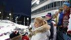 Дмитрий Медведев посетил соревнования по биатлону на Олимпиаде в Сочи