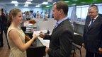 Дмитрий Медведев посетил Управление ФМС России в Севастополе