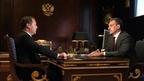 Встреча Дмитрия Медведева с временно исполняющим обязанности губернатора Амурской области Василием Орловым