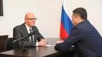 Дмитрий Чернышенко провел рабочую встречу с губернатором Псковской области Михаилом Ведерниковым