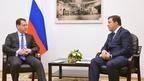 Беседа Дмитрия Медведева с губернатором Свердловской области Евгением Куйвашевым