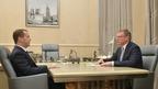 Встреча Дмитрия Медведева с временно исполняющим обязанности губернатора Омской области Александром Бурковым