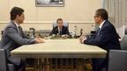 Рабочая встреча Дмитрия Медведева с Алексеем Улюкаевым и Александром Новаком