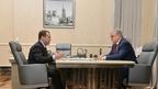 Встреча Дмитрия Медведева с ректором Национального исследовательского университета «Высшая школа экономики» Ярославом Кузьминовым