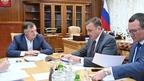 Марат Хуснуллин провёл рабочую встречу с губернатором Тульской области Алексеем Дюминым