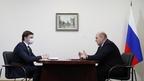 Беседа Михаила Мишустина с губернатором Орловской области Андреем Клычковым