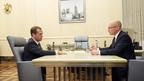 Встреча Дмитрия Медведева с руководителем государственной корпорации «Росатом» Сергеем Кириенко