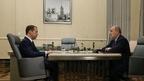 Встреча Дмитрия Медведева с председателем Фонда социального страхования Российской Федерации Андреем Кигимом