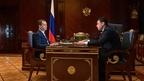 Встреча Дмитрия Медведева с губернатором Ярославской области Дмитрием Мироновым