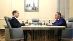 Встреча Дмитрия Медведева с генеральным директором Федеральной корпорации по развитию малого и среднего предпринимательства Александром Браверманом