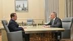 Встреча Дмитрия Медведева с временно исполняющим обязанности губернатора Тюменской области Александром Моором