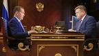 Встреча Дмитрия Медведева с губернатором Рязанской области Николаем Любимовым