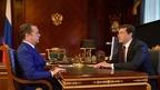 Встреча Дмитрия Медведева с временно исполняющим обязанности губернатора Нижегородской области Глебом Никитиным
