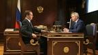 Встреча Дмитрия Медведева с временно исполняющим обязанности губернатора Воронежской области Александром Гусевым