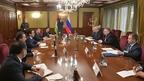 Алексей Оверчук встретился с Председателем Маджлиси милли Маджлиси Оли Республики Таджикистан Рустами Эмомали