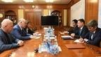 Рабочая встреча Александра Новака с Президентом Республики Абхазия Асланом Бжанией