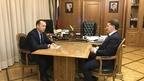 Алексей Гордеев провёл рабочую встречу с временно исполняющим обязанности губернатора Курганской области Вадимом Шумковым