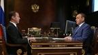 Встреча Дмитрия Медведева с временно исполняющим обязанности главы Республики Марий Эл Александром Евстифеевым