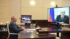 Беседа Президента России Владимира Путина с Михаилом Мишустиным