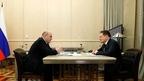 Встреча Михаила Мишустина с генеральным директором государственной корпорации «Росатом» Алексеем Лихачёвым