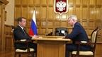 Встреча Дмитрия Медведева с губернатором Воронежской области Александром Гусевым