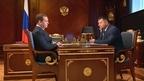 Встреча Дмитрия Медведева с временно исполняющим обязанности губернатора Приморского края Андреем Тарасенко