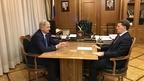 Алексей Гордеев провёл рабочую встречу с губернатором Воронежской области Александром Гусевым