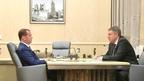 Встреча Дмитрия Медведева с губернатором Брянской области Александром Богомазом