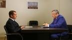 Встреча Дмитрия Медведева с губернатором Ленинградской области Александром Дрозденко