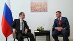 Встреча Дмитрия Медведева с временно исполняющим обязанности губернатора Курской области Романом Старовойтом