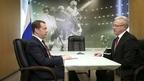 Встреча Дмитрия Медведева с губернатором Красноярского края Александром Уссом