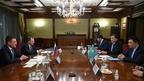 Рабочая встреча Александра Новака с помощником Президента Республики Казахстан Канатом Бозумбаевым