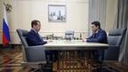Встреча Дмитрия Медведева с временно исполняющим обязанности губернатора Мурманской области Андреем Чибисом