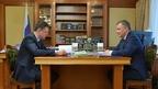 Александр Новак встретился с губернатором Иркутской области Игорем Кобзевым