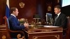 Встреча Дмитрия Медведева с генеральным директором АО «ДОМ.РФ» (бывшее Агентство ипотечного жилищного кредитования) Александром Плутником