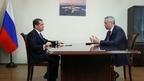 Встреча Дмитрия Медведева  с губернатором Новосибирской области Андреем Травниковым