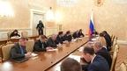 Встреча Дмитрия Медведева с руководством фракции ЛДПР в Государственной Думе
